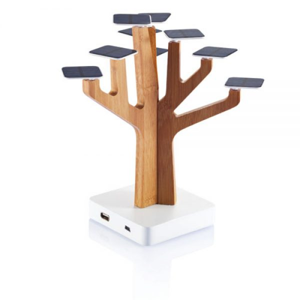 Chargeur Solaire tree arbre induction bois charger contact woodbambou bambooart decoration hightech best top meilleur 2018