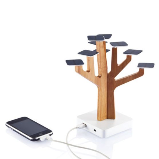 Chargeur Solaire tree arbre induction bois charger contact wood bambou bamboo art decoration hightech best top meilleur 2018