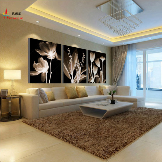Triptyque de Fleurs Peintures Triptych Paintings flowerpaint deluxe art deco home maison decoration hightech best top meilleur 2018 pharaonink